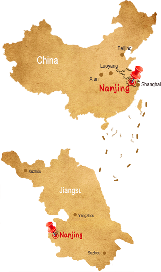 Map of nanjing china