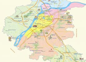 Map of Suburban Area Nanjing Holidays Travel