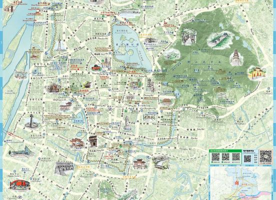 Map of Urban Area Nanjing Holidays Travel