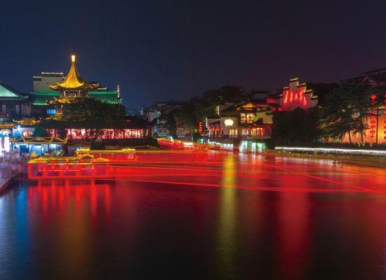 Qinhuai River at Night Nanjing Trip Holidays