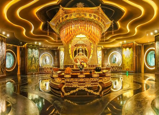 Usnisa Palace on Niushou Mountain Nanjing Trip Attraction